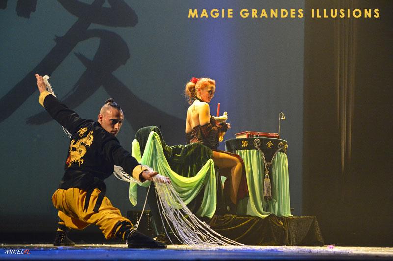 Magicien à Paris show grandes illusions