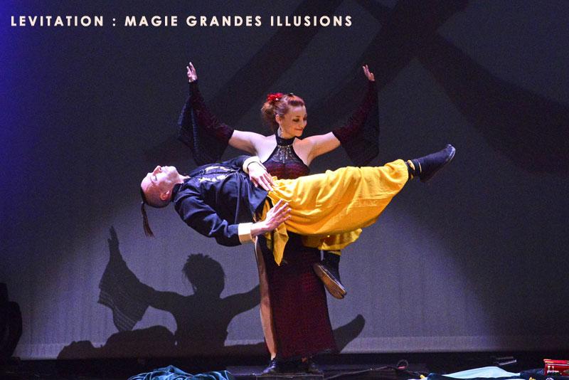 Magie grandes illusions magicien pour entreprise