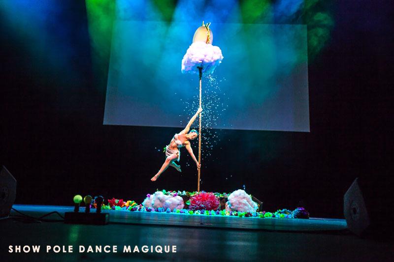 Spectacle pole dance magie événementiel