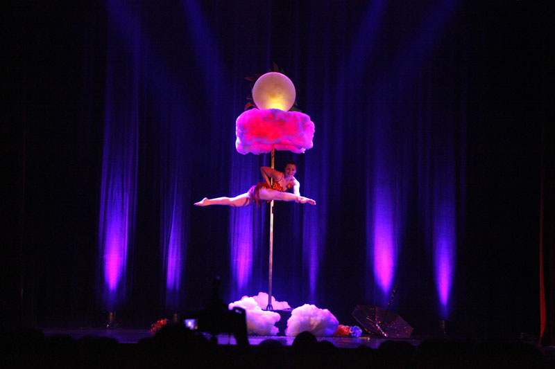 Spectacle magie pole dance