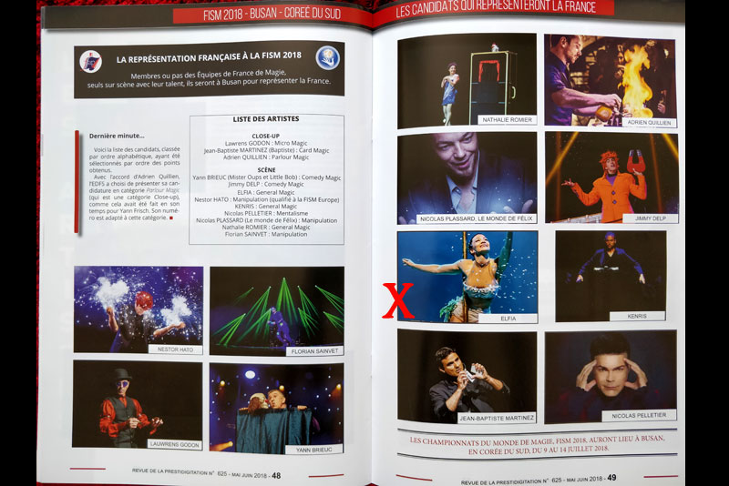 Revue prestidigitation Fism 2018