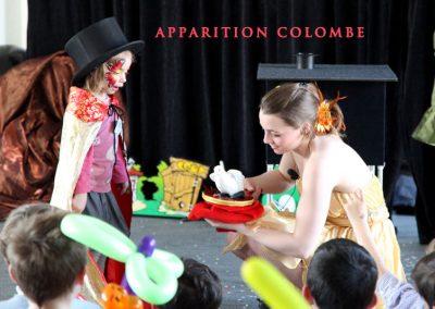 Spectacle pour enfant Reims 51 avec colombe